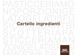 Cartello ingredienti 2020